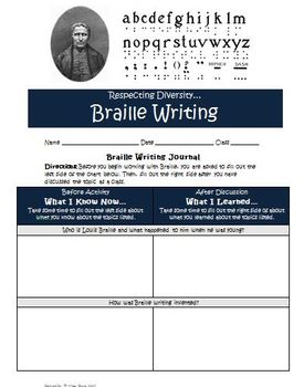 Braille Writing Activity: Learning Braille and Teaching Diversity