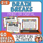 Brain Breaks! 60 Quick and Fun Activity Cards Your Student