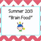 Brain Food! Summer Enrichment Activities for students in g