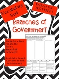 Branches of Government Vocabulary Word Sort