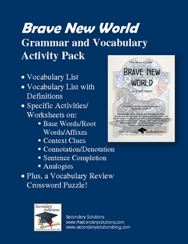 Brave New World Vocabulary Activity Pack