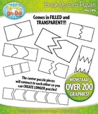 Break-Up Card Puzzles Clipart Set — Over 200 Graphics / In