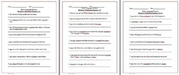 Bridge to Terabithia Daily Language Practice Activities and Quiz