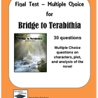 Bridge to Terabithia Multiple Choice Test