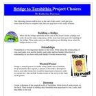 Bridge to Terabithia Reading Creative Project Activities a