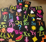 Bright Alphabet Cards