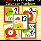 Bright Apple Monsters Calendar Numbers