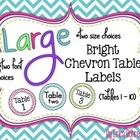 Bright Chevron Table Signs (1-10)