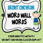 Bright Chevron Word Wall Words