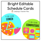 Bright Customizable Schedule Signs (Consistent Colors)