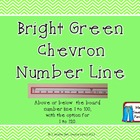 Bright Green Chevron Number Line