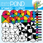 Bright Spinners - Graphics Clipart for the Classroom and C