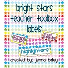 Bright Stars Teacher Toolbox Labels