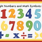 Bright and Colorful Numbers and Math Symbols Clip Art Set