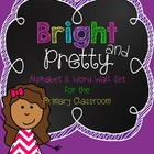 Bright and Pretty {An Alphabet and Word Wall Set for the P
