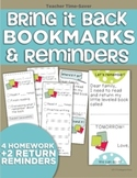 Bring it Back Bookmarks (Guided Reading Reminders)