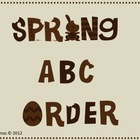 Bring on the Spring ABC Order