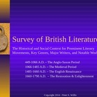 British Literature - Anglo-Saxon to Enlightenment England