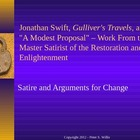 British Literature: Jonathan Swift, Gulliver's Travels, &