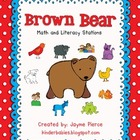 Brown Bear Math and Literacy Stations