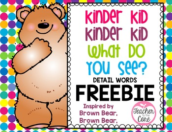 Brown Bear Student Book for Kinder