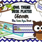 Brown Owl Chevron Nameplates (Blue, Green, Aqua, Brown)