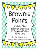 Brownie Points-A Whole Class Behavior Incentive in Aqua an