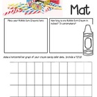 Bubble Gum Crayons Math Mat Review Activity ~ FREE