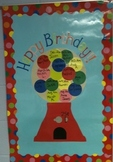 Bubble Gum Machine Birthday Poster