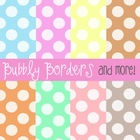 Bubbly Pastel Muted Polka Dots Digital Scrapbook Backgroun