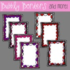 Bubbly Swirly Valentines Borders- 7 Frames