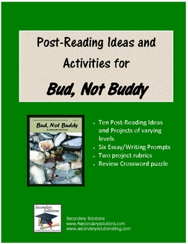 Bud Not Buddy Post-Reading Ideas and Activities