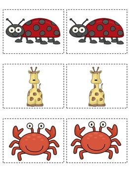 Buddy Cards for Partner Pairing-Animal Theme