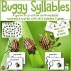 Multi-Syllable Nonsense Words - Buggy Game