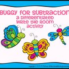 Buggy for Subtraction-A Differentiated Write The Room Activity