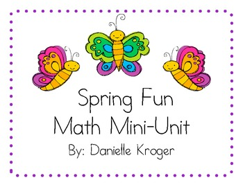 Bugs and Flowers Spring Math Fun