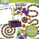 Build A Board Game Clipart Set 9 — Over 80 Colorful Graphics