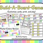 Build-A-Board-Game: Pastel Colors Version