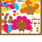 Build A Turkey Clip Art
