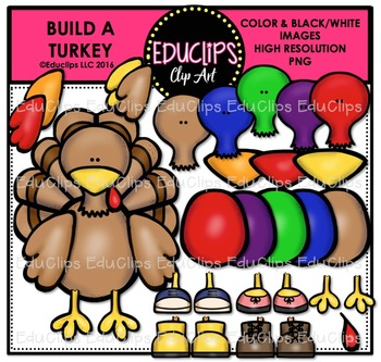 Build A Turkey Clip Art Bundle