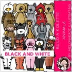 Build a kidlette animal bundle by Melonheadz black and white