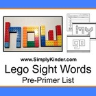 Building Block Pre-Primer Sight Words Simply Kinder