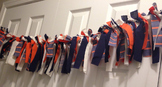 Bulletin Banner - Knotted Fabric - Navy & Orange Nautical