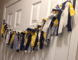 Bulletin Banner - Knotted Fabric - Navy & Yellow