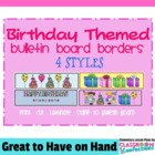 Bulletin Board Border - Birthday Theme
