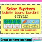 Bulletin Board Border - Solar System Theme