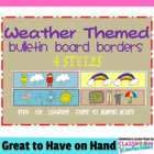 Bulletin Board Border - Weather Theme