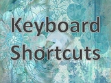 Bulletin Board PC Keyboarding Shortcuts for Computer Labs