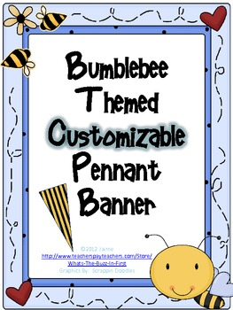 Bumblebee Customizable Pennant Banner for Bee Theme