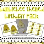 Bumblebee Themed Birthday Pack